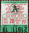 1975 MLB Angels at A's Combined No Hitter ticket stub