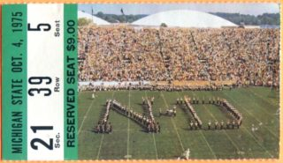 1975 NCAAF Michigan State at Notre Dame Joe Montana 1st Start