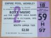1975 Roxy Music ticket stub Empire Pool Wembley London