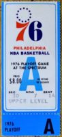 1976 Philadelphia 76ers Playoff Ticket Stub vs Buffalo Braves