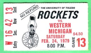 1979 NCAAMB Western Michigan at Toledo