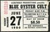 1980 Blue Oyster Cult BOC Riot Ticket Stub Billings