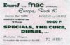 1980 The Specials The Cure ticket stub Pavillon Baltard Nogent sur Marne France