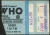 1980 The Who concert ticket stub Rupp Arena Lexington