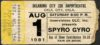 1981 Spyro Gyra ticket stub Oklahoma City