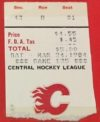 1984 Colorado Flames ticket stub vs Salt Lake