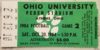 1984 NCAAF Ohio University ticket stub vs Kent State