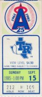 1985 California Angels ticket stub vs Texas Rangers