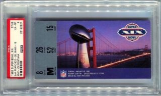 1985 Super Bowl Ticket Stub 49ers vs Dolphins