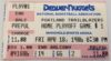 1986 NBA Playoffs Denver Nuggets vs Portland Trailblazers Ticket Stub