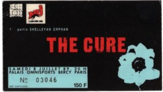 1989 The Cure Palais Omnisports Bercy Paris France