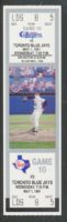 1991 Nolan Ryan No Hitter Full Ticket Blue Jays at Rangers