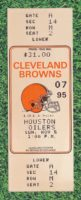 1995 Cleveland Browns ticket vs Houston Oilers Steve McNair NFL Debut