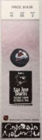 1996 Colorado Avalanche ticket stub vs San Jose Sharks