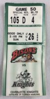 1998 Buffalo Bisons ticket stub vs Charlotte Knights