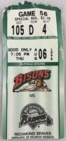 1998 Buffalo Bisons ticket stub vs Richmond Braves