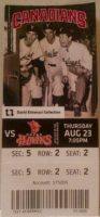 2008 Vancouver Canadiens ticket vs Boise Hawks