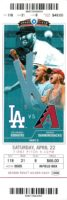 2017 Arizona Diamondbacks ticket vs Los Angeles Dodgers
