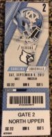 2017 NCAAF North Carolina ticket stub vs Louisville
