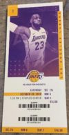 2018 Los Angeles Lakers ticket vs Houston Rockets Lebron James 1st Home Game