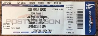 2018 World Series Game 5 ticket Dodgers vs Red Sox