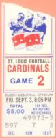 1976 St Louis Cardinals ticket stub vs Denver Broncos