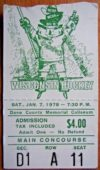 1978 NCAAMH Wisconsin Badgers ticket stub