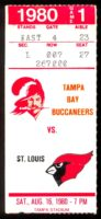 1980 Tampa Bay Buccaneers ticket stub vs St Louis Cardinals