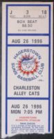 1996 MiLB Hagerstown Suns ticket stub vs Charleston Alley Cats