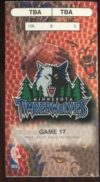 1999 Minnesota Timberwolves ticket stub vs Sacramento Kings