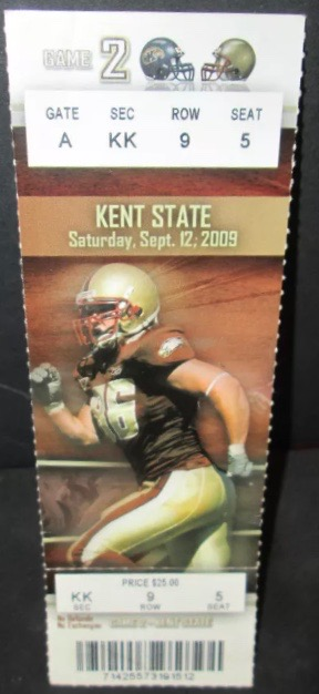 2009 NCAAF Boston College ticket vs Kent State