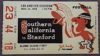 1961 NCAAF USC ticket stub vs Stanford