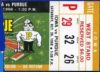 1968 NCAAF Purdue ticket stub vs Iowa