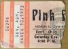 1973 Pink Floyd concert ticket stub from Kent State