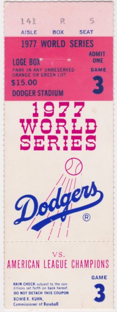 1977 World Series Game 3 Yankees at Dodgers