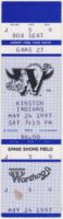 1997 Winston Salem Warthogs ticket stub vs Kinston Indians