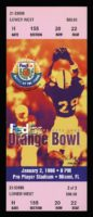 1998 Orange Bowl Ticket Stub Tennessee vs Nebraska