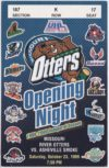 1999 UHL River Otters ticket stub vs Smoke