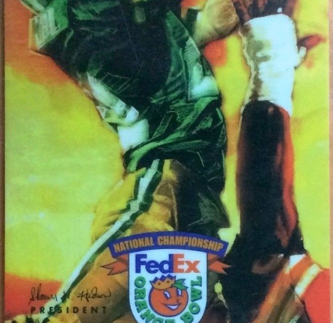 2001 BCS Championship Orange Bowl Ticket Stub Florida State vs Oklahoma