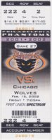 2002 AHL Philadelphia Phantoms ticket stub vs Chicago