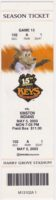 2003 Frederick Keys ticket stub vs Kinston Indians