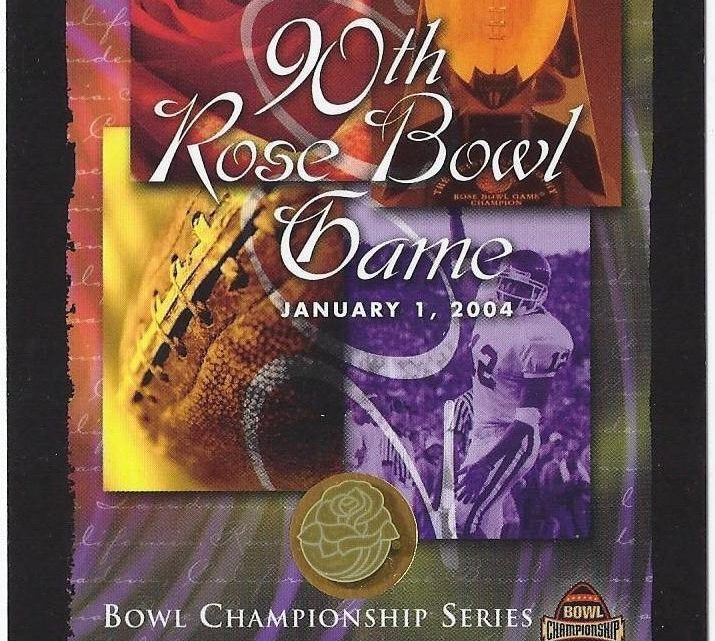 2004 BCS Championship Rose Bowl Ticket Stub USC vs Michigan