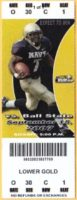 2007 NCAAF Navy ticket stub vs Ball State