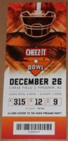 2018 Cheez-It Bowl Ticket Stub California vs TCU