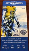 2018 Cotton Bowl Ticket Stub Notre Dame vs Clemson