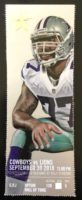 2018 NFL Dallas Cowboys ticket stub vs Detroit Lions