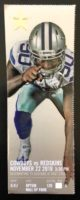 2018 NFL Dallas Cowboys ticket stub vs Washington Redskins