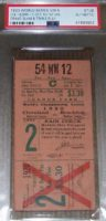 1920 World Series Game 5 ticket stub Indians vs Dodgers