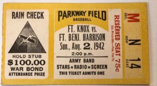 1942 Exhibition Game Ft. Knox vs Ft. Benjamin Harrison