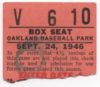 1946 PCL Oakland Oaks ticket stubs
